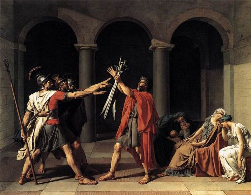 Jacques-Louis David - Oath to the Horatii (1784)