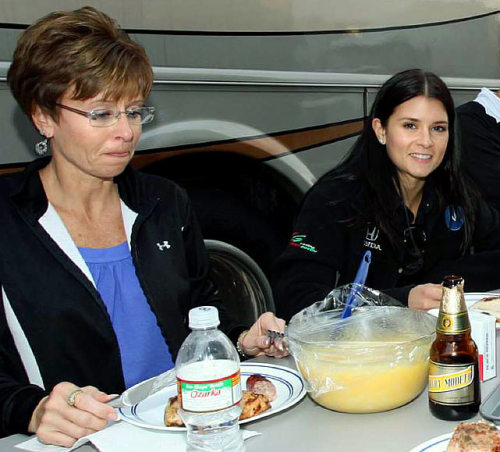 Danica Patrick with her mother Bev (2008) (via Danica Patrick - with her mother Bev (2008) - SI's Rare Photos of Sports Figures and Their Moms - Photos - SI.com)