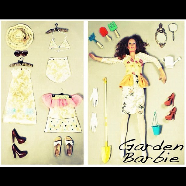 #garden #barbie #styling #photography #makeup #model #fashion barbie inspired shoot  (Taken with instagram)