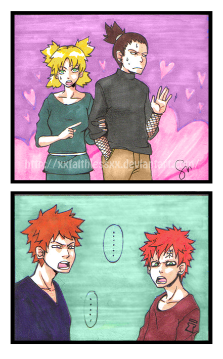 scantilydressedartist:  LOL gaara and Kanky's expressions kill me every time I see this.