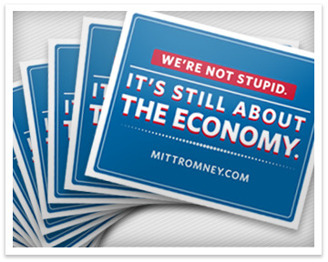"""It's still about the economy"" Bumper Sticker"