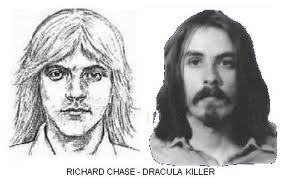 serial-killers-101:  Richard Chase's police sketch next to his actual person