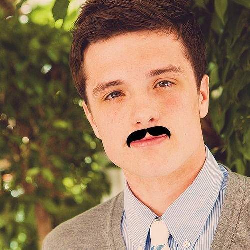 2/5 pictures of Josh Mustache Hutcherson