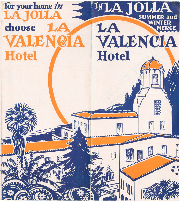 In La Jolla summer and winter merge : La Valencia Hotel, 1930