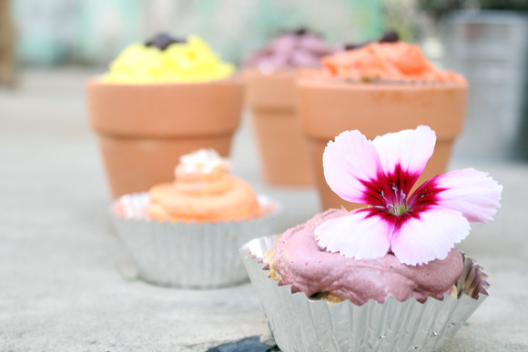 freepeople:  Coconut, Oatmeal and Raisin Flower Cupcakes   Go check out my recipe on the FP Blog!!