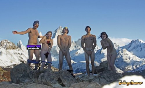 Naked Hikers on a Mountain Top Take a peak!