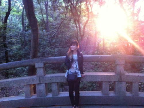 asobiseksutime:  In Tokyo FINALLY! Yoyogi Park at sunset. We play Shibuya O-nest tomorrow, Osaka on Wed, Nagoya on Thurs, and Shibuya O-west with Boris on Friday!!  I love Yoyogi Park! I've seen you guys five times now. Your set with Boris was awesome~