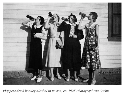 Crazy flappers-that's Ruby, third from the left