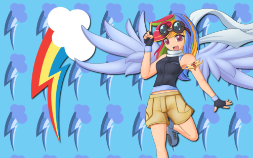 werd10101:  Human Rainbow Dash WP by *AliceHumanSacrifice1