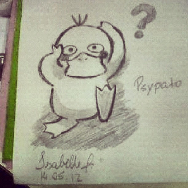 totallyheavenly:  #psyduck by #me :3 #pokemon (Publicado com o Instagram)