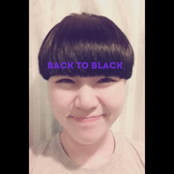 Back to black thanks b@ellenwhk   (Taken with instagram)