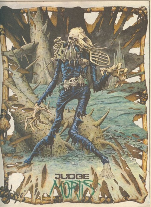 oh man, I remember reading some Judge Dredd comics. Especially that one album with Judge Death and Judge Anderson…  damn this cover art is just so memorable