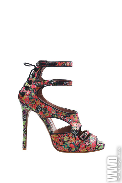 Tabitha Simmons Spring '12  Bailey sandal in custom floral silk.
