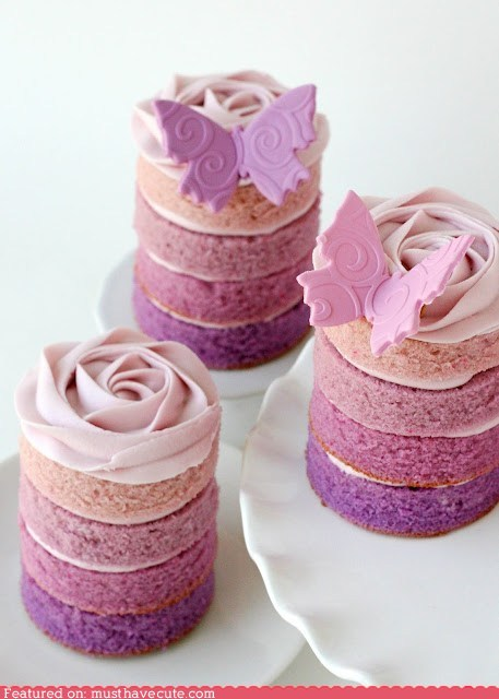 These look like tall cupcakes!