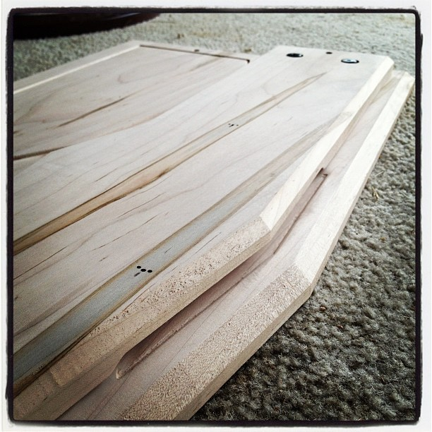 Front of riser detail. #custom #hardwood #pedalboard #cleantone  (Taken with instagram)