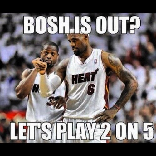 Pacers - 38, Wade & LeBron - 42…Who gon' stop us? #HeatNation 🔥 (Taken with instagram)