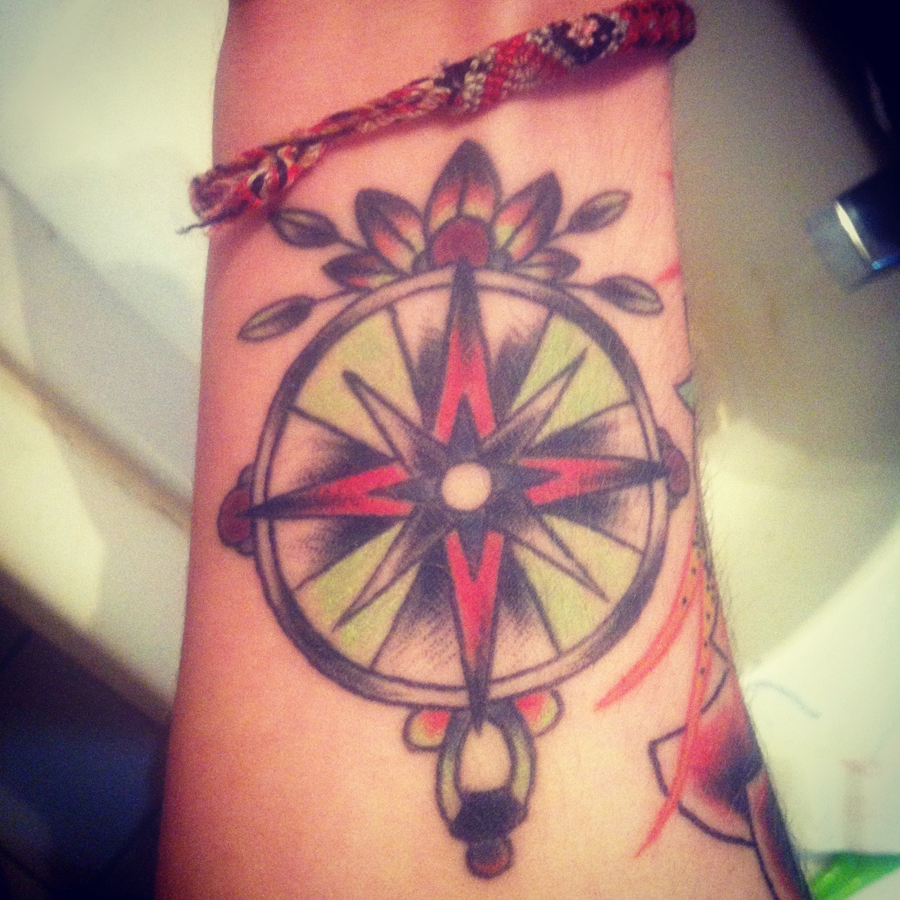 Compass done by Ash at Adrenaline Toronto Canada in april 2012 paintedrabbit.tumblr.com