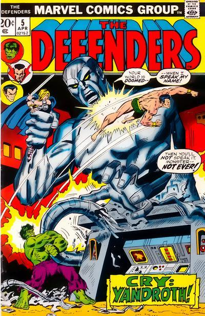 I finally read a chunk of classic Defenders comics. They were great. Also, Hulk is angry/sad, and there's an army of porpoises!