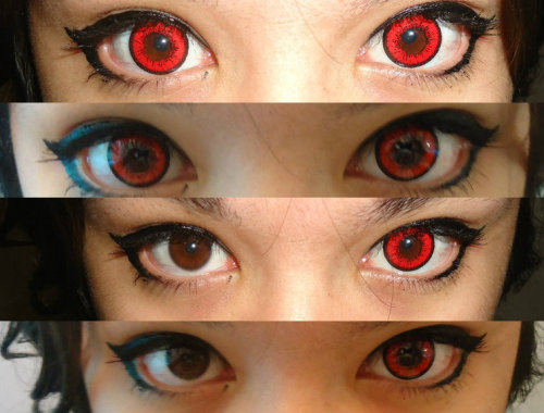 cosplay-beauty:  Venus Bright Eye red from PinkyParadise - Largest Circle Lens StoreNo photo edit.http://www.pinkyparadise.com/Venus_Eye_Bright_Red_p/e33-venus-eye-bright-red.htm  Can you tell me a bit about these contacts/a review? Were they comfortable, in particular?