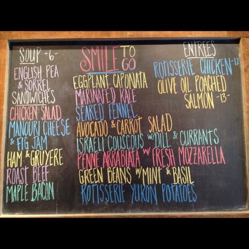 Today's Menu at Smile To Go (Taken with instagram)