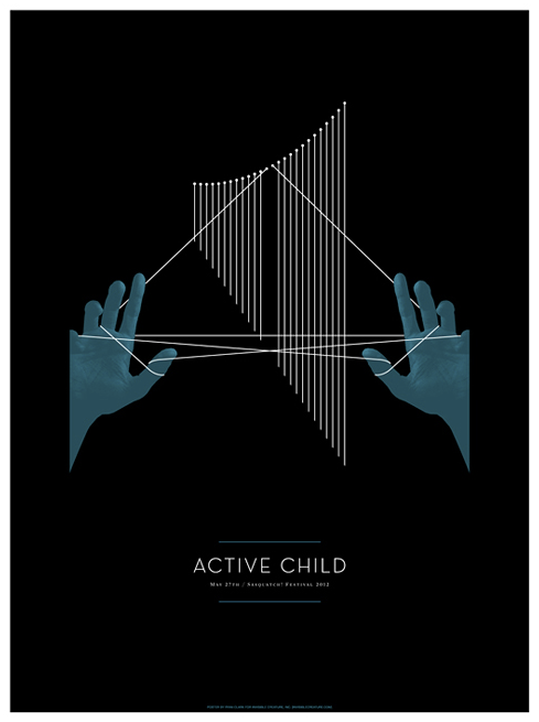 Nice Active Child poster here for their Sasquatch! performance (via blog.invisiblecreature.com/)