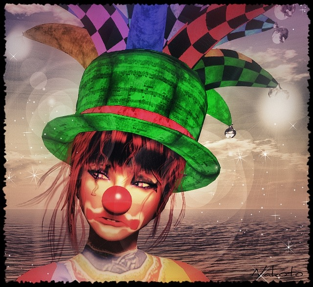 "Check out the Second Life Pic of the Day, ""Sad Clown"", photo by ಌ Nαкσтσ Eχσиαя ಌ. http://bit.ly/IU1hh2"