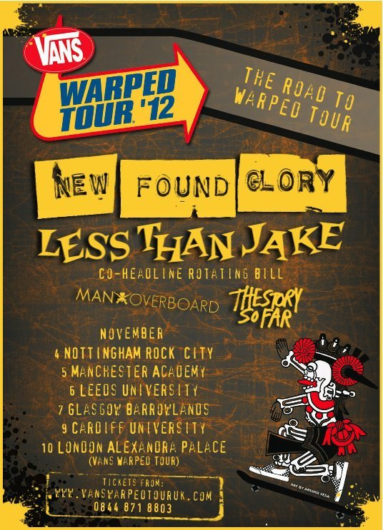 New Found Glory/Less Than Jake/Man Overboard/The Story So Far on the same tour = EPIC!
