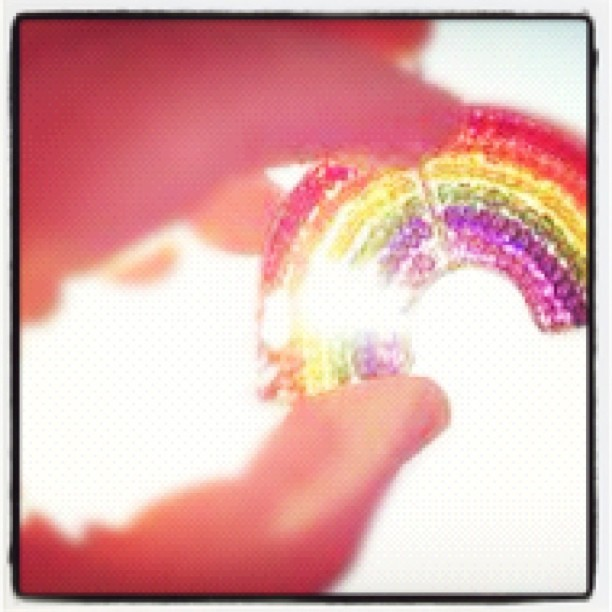 Look for the light. #pretty #cute #awesome #sparkles #rainbow #light #beads (Taken with instagram)