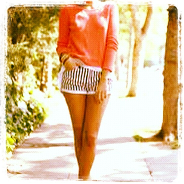 #pretty #cute #awesome #light #girl #hoodie #shorts #pink #stripes (Taken with instagram)