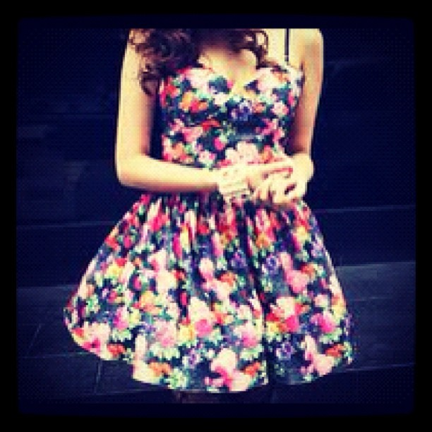 #girl #pretty #cute #awesome #floral #dress #girl (Taken with instagram)