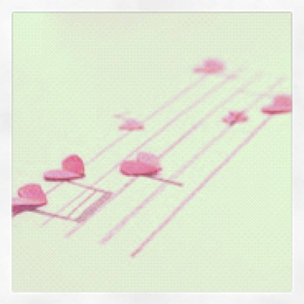#music #notes #cute #awesome #pretty #love #pink #heart (Taken with instagram)