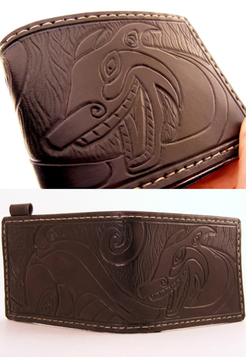 Check out this great Coyote wallet, custom made for me by Sova Leatherworks! It arrived today and it really looks beautiful in person and I'm going to use it as my main wallet. I'm not taking commissions yet, but I couldn't resist when Steph offered to trade for one of her amazing pieces. Take a look at some of Steph McWalters' other amazing leatherworks here And here is her Etsy store!