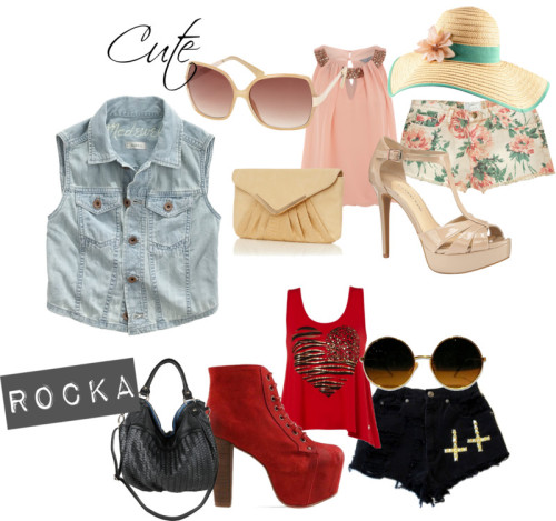 Cute vs Rocka? by andreaf96 featuring h&m hats