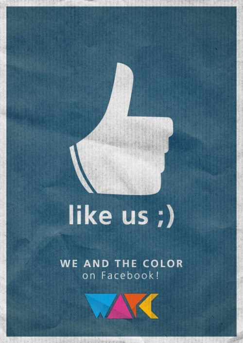 weandthecolor:  Find Us on Facebook! If you like the stuff we post, you can follow WE AND THE COLOR on Facebook too. Just klick the Like-Button at the top of the page to stay up to date with our latest posts, add comments, discuss or upload your own images and videos to our facebook page. We would be glad to meet you there, so let's stay connected on Facebook. via: WE AND THE COLORFacebook // Twitter // Google+ // Pinterest
