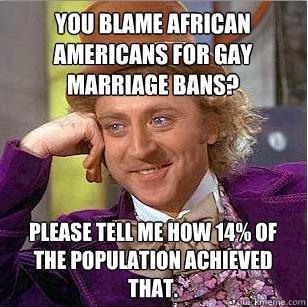 Blaming the black voter for Prop 8. In response to this.