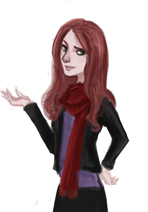 Just a doodle of Amy Pond to test out the new tablet… I think I'm in love with it.