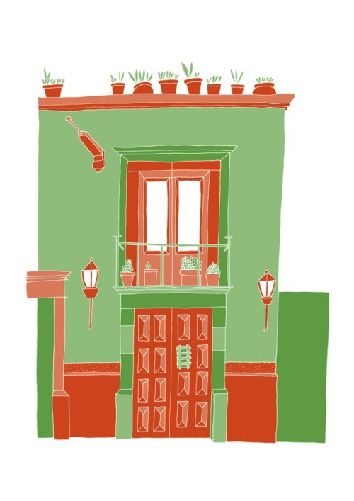 'A Mexican House'Edition of 25 2 Colour A3 Risograph Print Munken Polar 170gsm Signed and Numbered by the artist     Unframed £25(plus postage & packaging) UK ONLY     Framed £40(plus postage & packaging) UK ONLY