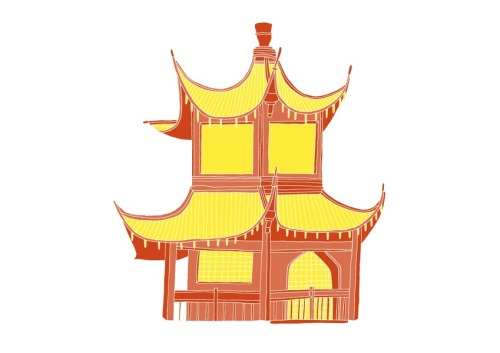 'A Chinese House'Edition of 25 2 Colour A3 Risograph Print Munken Polar 170gsm Signed and Numbered by the artist     Unframed £25(plus postage & packaging) UK ONLY     Framed £40(plus postage & packaging) UK ONLY