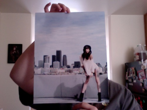 Limited edition (1 of 2) print of @krystakaos for sale. 11x14, $40 signed by both myself and Krysta. Click though to see the digital version, since this is a poopy webcam shot of the actual print. Leave a message in my ask box if you are interested :)   Update: sold!