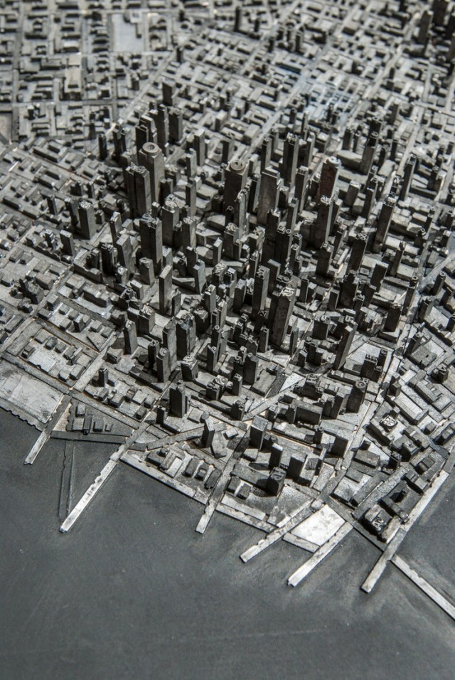 A Miniature City Built with Metal Typography, too cool.  via @jasonsantamaria