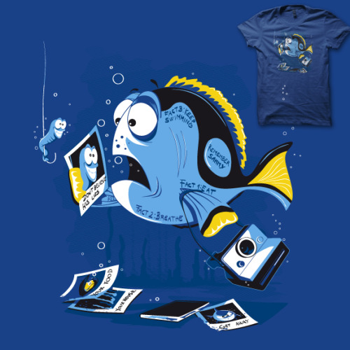 """Fish Memory"" is for vote at Shirt.Woot. It would be great to have your support ;) http://shirt.woot.com/Derby/Entry.aspx?id=62993 Di.Jay on Facebook"