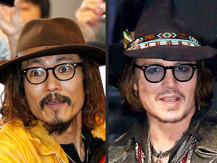 Will the real Johnny Depp please stand up? [Crazy photo of JD's Japanese counterpart, Ken Shimizu, from People.]