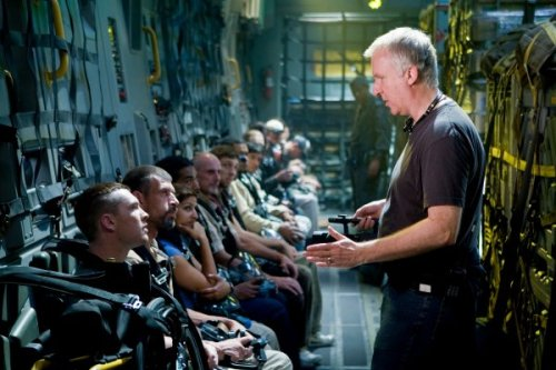 fuckyeahbehindthescenes:  James Cameron, known for being tough on set, allegedly kept a nail-gun on set that he would use to nail cell phones, that had the misfortune of ringing, to a wall above the exit sign. Avatar (2009)  I would totally do that.