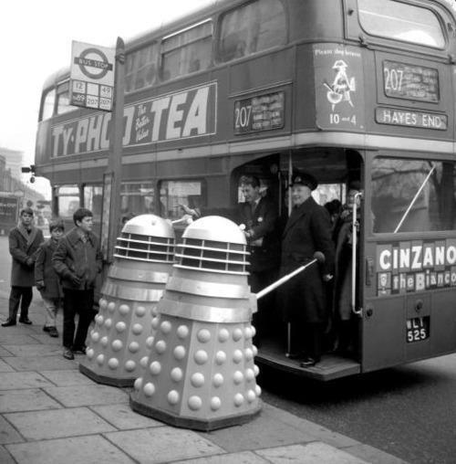 doctorwho:  Skaro budget cuts Daleks must use mass transit dannrayv:  Seen anything suspicious on the 207 bus lately?