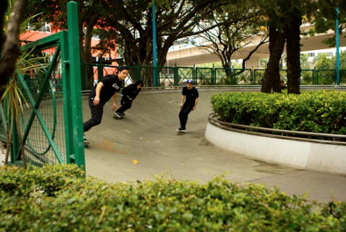 "Shenzhen Vacation: 3 Weeks In China on Push.ca right HERE ""China: skateboarding's hottest travel destination, and our answer to getting sick of seeing Barcelona. That's the elevator pitch at least, but it really takes the soul out of it. We went to China – we being a long list. AJ McCallister, Derek Swaim, Nick Moore, Corey Klim, Mike Campbell, Jason Gordon, Mike Vince and Matt Berger were there to skate; Dane Collison, Benny Stoddard and myself (Dave Ehrenreich), were there to skate and also document. Brian Caissie was along to shoot photos, claiming 'veteran' status, this being his 5th or 6th visit to mainland China. Brian's grasp on the Chinese language though, still non-existent. That's not a knock on Brian at all, as he would have had to learn both Mandarin and Cantonese and then know when to apply each – not a simple task. But we did have Will Cui, our real travel visa, the most patient man in history and the only way our trip went smoothly. Mainland China is a daunting travel destination, but once you get there you'll never want to leave. These photos and video are but a glimpse into our Chinese skateboarding vacation, enjoy."" -dave"