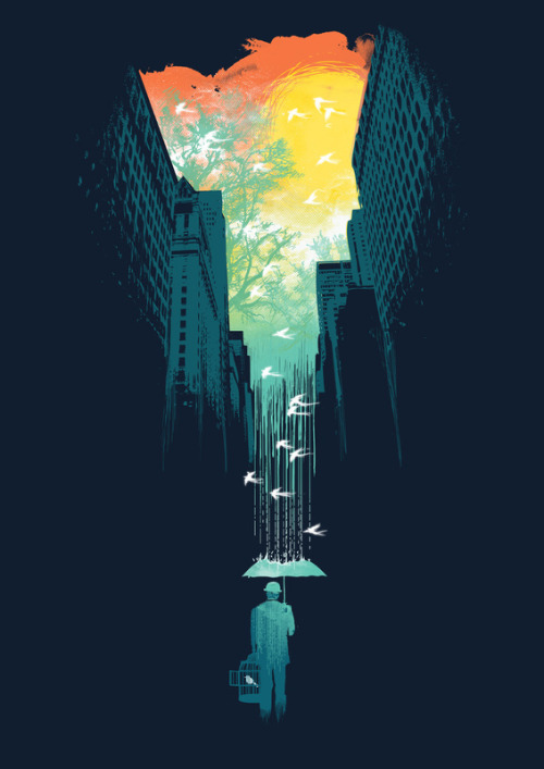 2headedsnake:  society6.com  I Want My Blue Sky by Budi Satria Kwan