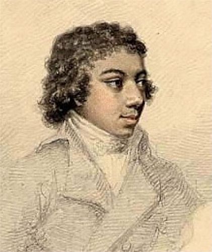 "ukblackhistory:   George Augustus Polgreen Bridgetower October 1778 - February 1860""his talent is one of the best replies one can give to philosophers who wish to deprive people of his nation and his colour of the opportunity to distinguish themselves in the arts"".Taken from the journal Le Mercure de France; Paris 1789.   Well this is interesting. It makes you wonder what might've been:   …[Bridgetower] visited Vienna later in 1803, where he performed with Ludwig van Beethoven. Beethoven was impressed, and dedicated his great Violin Sonata No. 9 in A major (Op.47) to Bridgetower, with the goodheartedly mocking dedication [downlo: yeah right] Sonata per un mulattico lunatico. Barely finished, the piece received its first public performance at the Augarten Theatre on 24 May 1803, with Beethoven on pianoforte and Bridgetower on violin. Bridgetower had to read the violin part of the second movement from Beethoven's copy, over his shoulder. He made a slight amendment to his part, which Beethoven gratefully accepted, jumping up to say ""Noch einmal, mein lieber Bursch!"" (""Once more, my dear fellow!""). Beethoven also presented Bridgetower with his tuning fork, now held by the British Library. The pair fell out soon afterwards, Bridgetower having insulted a woman who turned out to be Beethoven's friend; Beethoven broke off all relations with Bridgetower and changed the dedication of the new violin sonata to the violin virtuoso Rudolphe Kreutzer, who never played it, saying that it had already been performed once and was too difficult — the piece is now known as the Kreutzer Sonata. The Pulitzer-prize winning poet Rita Dove dramatized the relationship between Beethoven and Bridgetower in the book-length lyric narrative Sonata Mulattica.   The New York Times has a very interesting piece about Dove's book:   Haydn almost certainly encountered him as a child in a Hungarian castle, where the boy's father was a servant and Haydn was the director of music, and Thomas Jefferson saw him performing in Paris in 1789: a 9-year-old biracial violin prodigy with a cascade of dark curls. While the boy would go on to inspire Beethoven and help shape the development of classical music, he ended up relegated to a footnote in Beethoven's life. Rita Dove, the Pulitzer Prize-winning former United States poet laureate, has now breathed life into the story of that virtuoso, George Augustus Polgreen Bridgetower, in her new book, ""Sonata Mulattica"" (W. W. Norton). The narrative, a collection of poems subtitled ""A Life in Five Movements and a Short Play,"" intertwines fact and fiction to flesh out Bridgetower, the son of a Polish-German mother and an Afro-Caribbean father. […] Bridgetower's story is a corrective to the notion that certain cultural forms are somehow the province of particular groups, said Mike Phillips, a historian, novelist and former museum curator who contributed a series of essays to part of the British Library's Web site (at www.bl.uk/onlinegallery/features/blackeuro) that profiles five 19th-century figures of mixed European and African heritage, including Bridgetower, Alexandre Dumas and Pushkin. He also wrote the libretto for ""Bridgetower: A Fable of London in 1807,"" an opera in jazz and classical musica performed by the English Touring Opera, which had its premiere in 2007 in London. ""Bridgetower flourished in a time when the world outside Africa was like a huge concentration camp for black people,"" Dr. Phillips said…He noted that while Bridgetower got a music degree at Cambridge and managed to earn a living as a musician, for much of his life the trans-Atlantic slave trade was at full throttle. While little of his work survives today, Bridgetower associated with some of the major musicians of his time, including Giovanni Viotti, the violin virtuoso, and Samuel Wesley, the organist and composer… Moreover…Bridgetower was crucial to the establishment of the Royal Academy of Music. This institution was the central influence on, and regulator of, Britain's musical history at a time when the forms and structures of modern classical music were being invented, along with new instruments that produce the sounds heard in contemporary concert halls."