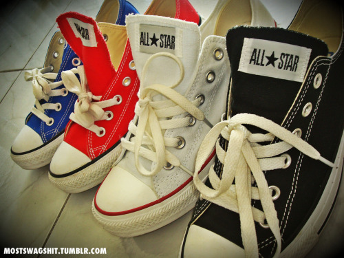 mostswagshit:  my chucks <3