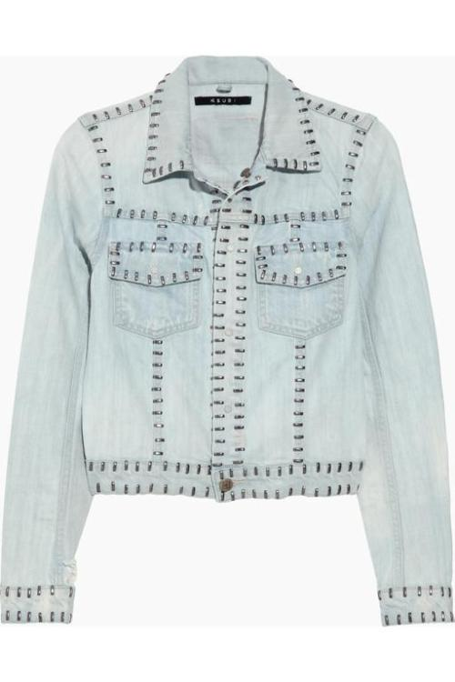 Seriously studded denim jacket by Ksubi