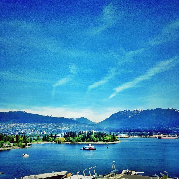Being at the office could be worse. #vancouver #landscape #mountains  (Taken with Instagram at Shaw Tower)